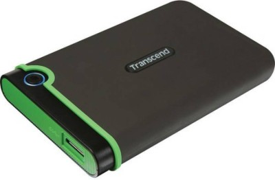 Transcend 1 TB Wired External Hard Disk Drive(Iron Gray, Green) at flipkart