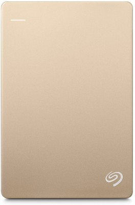 Seagate Backup Plus Slim 1 TB Wired External Hard Disk Drive(Gold)