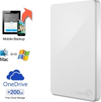 View Seagate Backup Plus Slim 1 TB Wired External Hard Disk Drive with  200 GB  Cloud Storage Price Online(Seagate)