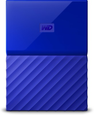 WD My Passport 4 TB Wired External Hard Disk Drive(Blue)