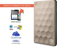 View Seagate 1 TB Wired External Hard Disk Drive with  200 GB  Cloud Storage Price Online(Seagate)