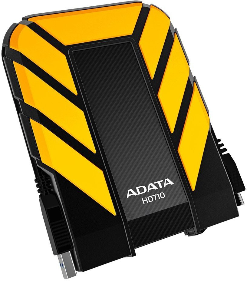 ADATA 2 TB Wired External Hard Disk Drive(Yellow)
