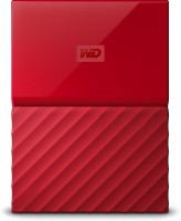 View WD My Passport 1 TB Wired External Hard Disk Drive(Red) Price Online(WD)