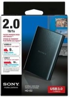 View Sony 2 TB External Hard Disk Price Online(Sony)