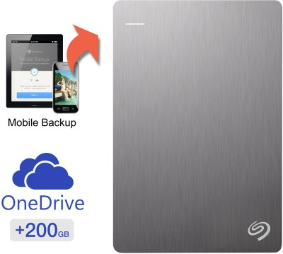 Seagate Backup Plus Slim 1 TB Wired HDD  External Hard Drive with  200 GB  Cloud Storage