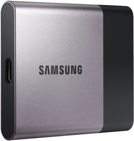 View SAMSUNG T3 250 GB External Solid State Drive(Grey) Price Online(SAMSUNG)