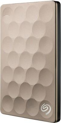 Seagate Backup Plus Ultra Slim Drive 1 TB External Hard Disk Drive(Gold) at flipkart