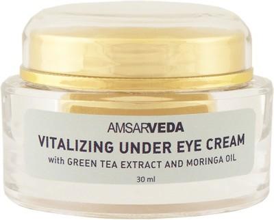Amsarveda Vitalizing Under Eye Cream -100% Natural with Green Tea extract & Moringa oil