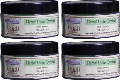 Khadi Rishikesh Herbal Under Eye Gel Pack of 4(50 g)