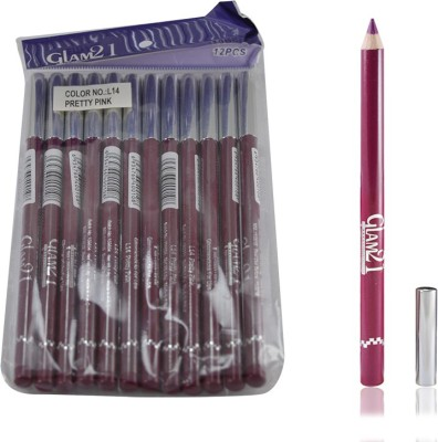 GLAM 21 PINK GLIMMERSTICKS FOR EYES & LIPS PACK OF 12PCS-PS 1.8 g