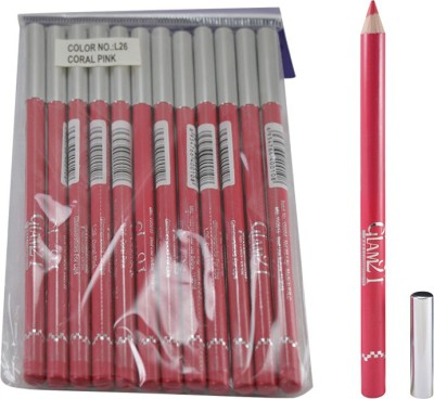 GLAM 21 PINK GLIMMERSTICKS FOR EYES & LIPS PACK OF 12PCS-UO 1.8 g