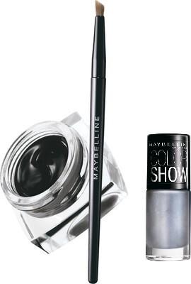 Maybelline Lasting Drama Gel Eye Liner with Silver Linings Nail Enamel 2.5 g