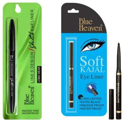 BLUE HEAVEN (Line & Design Sketch Eyeliner) & (Soft kajal) 1.0 ml