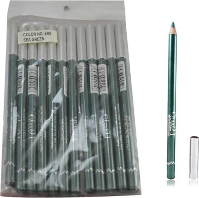 GLAM 21 GREEN GLIMMERSTICKS FOR EYES & LIPS PACK OF 12PCS- GA 1.8 g