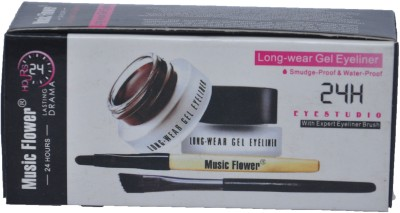 Music Flower Gel Eyeliner 3 g(Black)