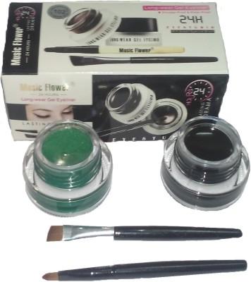 Music Flower Eyeliner Green & Black 3 g