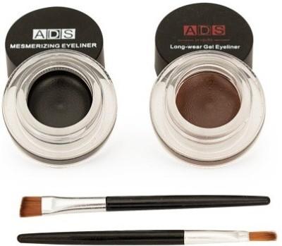 Pears ADS Eye Studio Long Wear Drama Black Brown Gel Eyeliner 3+3 = 6 g(Jet Black, Brown)