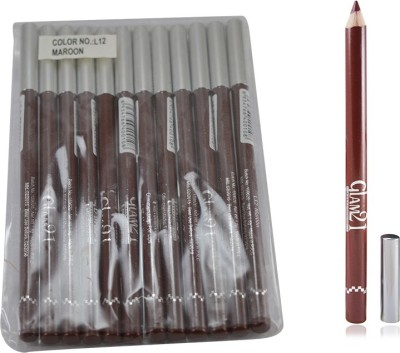 GLAM 21 MAROON GLIMMERSTICKS FOR EYES & LIPS PACK OF 12PCS-PU 1.8 g