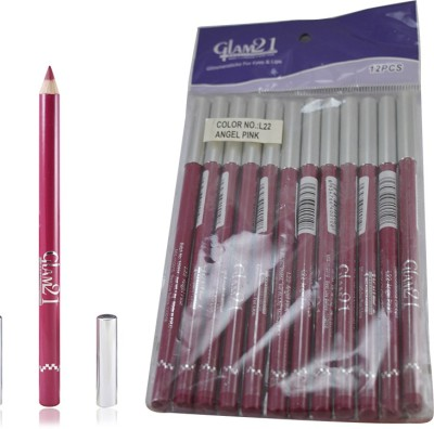 GLAM 21 PINK GLIMMERSTICKS FOR EYES & LIPS PACK OF 12PCS-UU 1.8 g