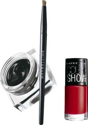 Maybelline Lasting Drama Gel Eye Liner with Downtown Red Nail Enamel 2.5 g