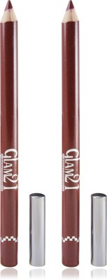 GLAM 21 MAROON GLIMMERSTICKS FOR EYES & LIPS PACK OF 2PCS 1.8 g