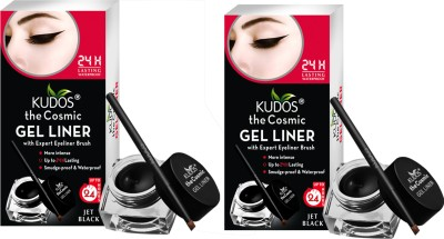 Kudos Color Expert Eye Liner Gel-Black Pack of 2 8.2 g