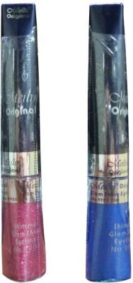 Meilin Shimmer Glam Shine Eyeliner in Cherry & Royal-Blue 14 ml