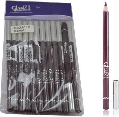 GLAM 21 RED GLIMMERSTICKS FOR EYES & LIPS PACK OF 12PCS-GH 1.8 g