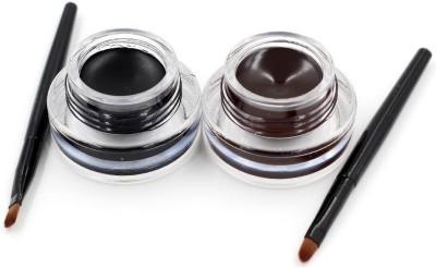 High Fly Music Flower 2 in 1 Black & Brown Water Proof & Smudge Proof 24hrs Gel Eyeliner 3+3= 6 g
