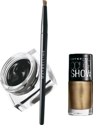 Maybelline Lasting Drama Gel Eye Liner with Bold Gold Nail Enamel 2.5 g