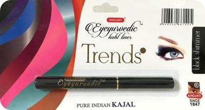 K-Veda Eyeyurvedic Kohl Liner Trendz, Black Shimmer, Pure Indian Kajal 0.5 g