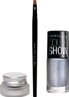 Maybelline Lasting Drama Swirl Gel Liner with Silver Linings Nail Enamel 3 g