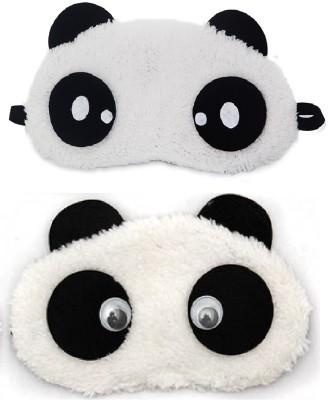 Jenna Dot Eyes Panda Travel Sleep Cover Blindfold (Pack of 2)(2 g)