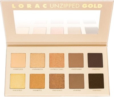 LORAC Unzipped Gold Shimmer and Matte Eye Shadow Palette 11.2 g