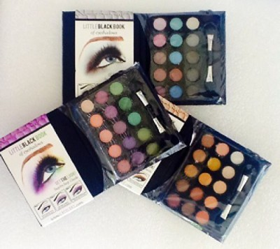 L.A. Colors Pack Of Little Black Book Of shadows Different Color shadow Palettes 3 g