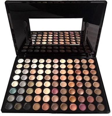 KOLIGHT MakeupAcc® 88 Warm Pro Colors Matte Shimmer Eyeshadow Palette Makeup Kit Set + Brush Mirror(earth Matt) 1 g