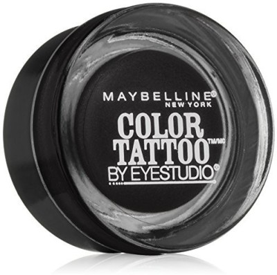 Maybeline New York Eye Studio Color Tattoo Leather 24 HR Cream Gel Eyeshadow, Dramatic Black 1 g