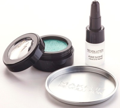 Makeup Revolution London Awesome Metals Eye Foils with Primer 1.5 g(Emerald Goddess)