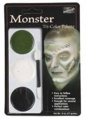 Mehron 403CFR Tri Color Palettes Monster 1 g