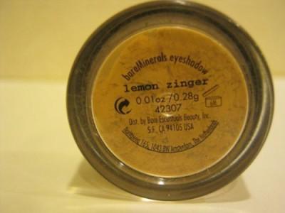 Bare Escentuals Bare Minerals color Lemon Zinger .01 Oz./.28 Gr. 0.28 g
