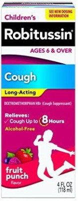 Robitussin Children's Long-Acting Cough & Cold Relief Liquid-Fruit Punch 1 ml