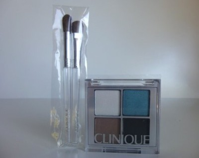 Clinique All About Shadow Color Compact Quad Brush Setgalaxy, Sugar Cane Soft Shimmer, Jenna,S Essential, Foxier Soft Shimmer.) Deluxe Travel Size. clinique 3 g