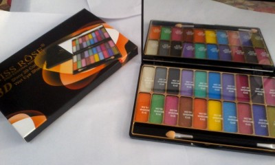 Miss Rose 3D Shiny 20-colour wet Eye Shadow 12