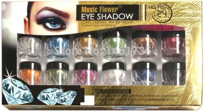 Music Flower Long Lasting Water Proof Eye Shadow Set Of 12 18 g
