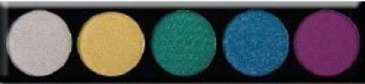 L.A. Colors Color Metallic Shadow Palette Lush 101 Lush 3 g