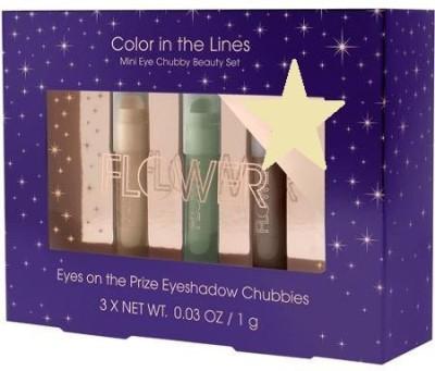 FLOWER Color in the Lines Purple Mini Eye Chubby Beauty Set 1 g