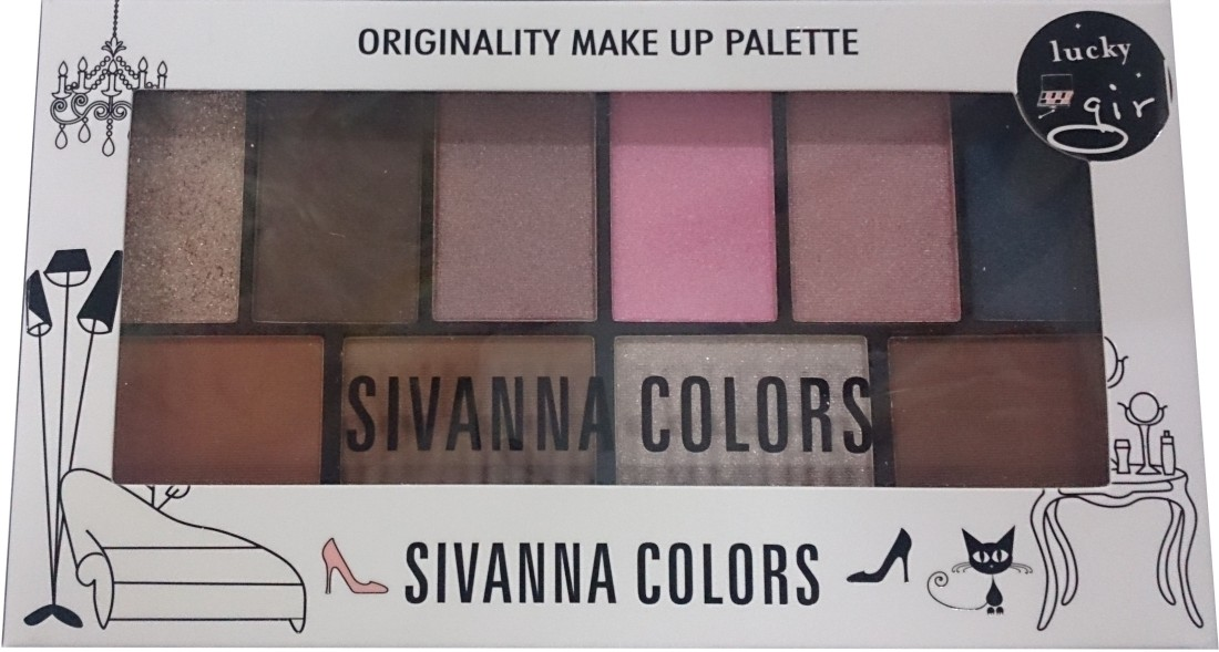 Sivanna Originality make up palette 15 g(Brown Dark pinks 03)