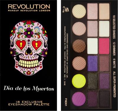 Make Up Revolution London Dia De Los Muertos 18 Exclusive Eyeshadow Palette