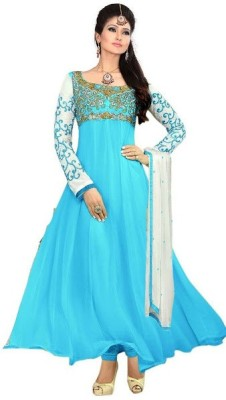 FastColors Georgette Embroidered Salwar Suit Dupatta Material