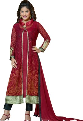 Shyam Suits Georgette Embroidered Salwar Suit Dupatta Material